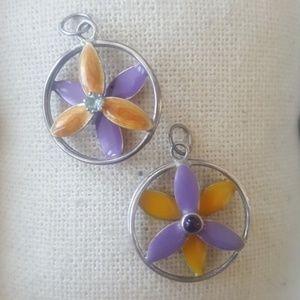 Hawaiian flower pendant sterling silver